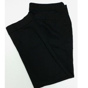 Express Black Cropped Editor Pants Cuffed Size 8